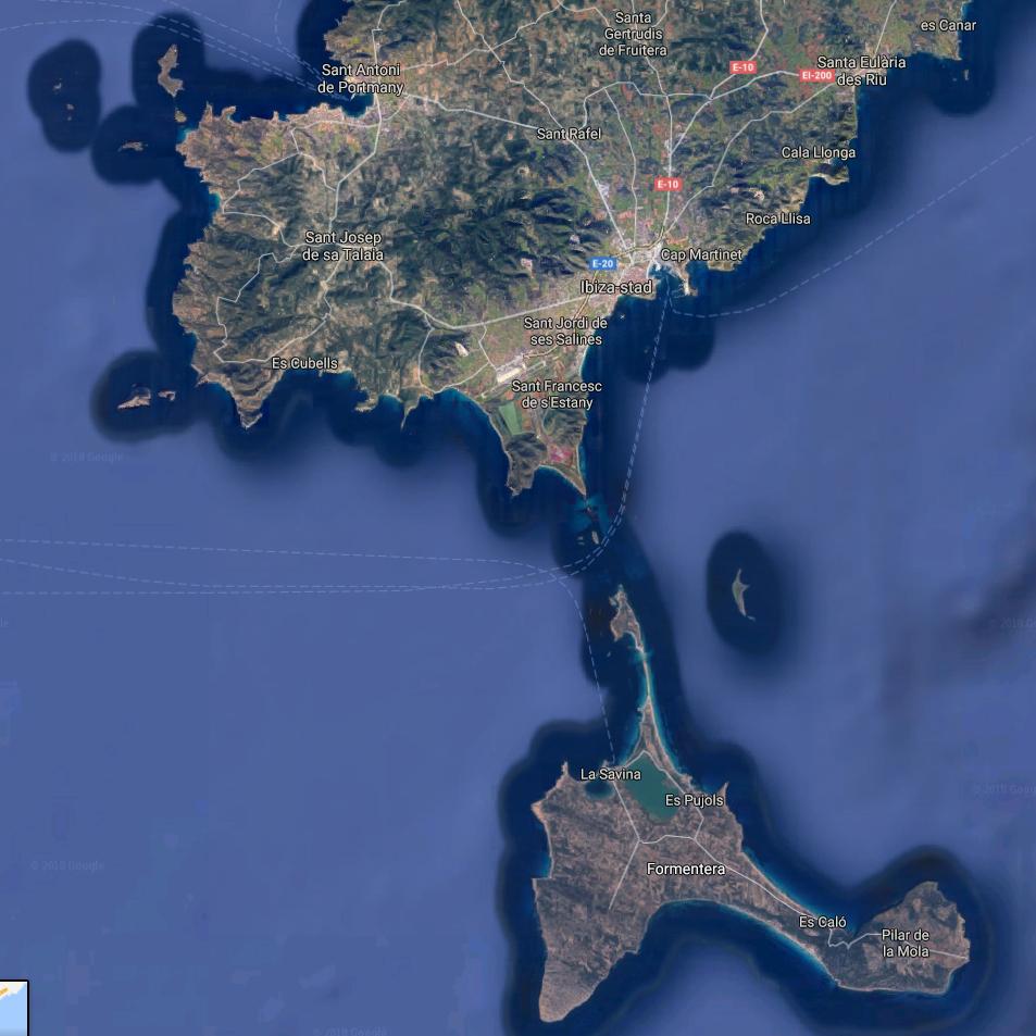 Varen van Ibiza naar Formera | Aurelia Amsterdam